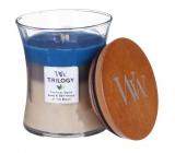 WoodWick Trilogy Nautical Escape - Ráj na pobřeží vonná svíčka s dřevěným knotem a víčkem sklo velká 609,5 g