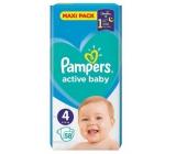 Pampers Active Baby Maxi Pack 4 9-14 kg plenkové kalhotky 58 kusů