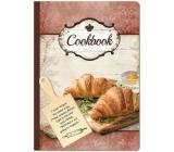Ditipo Kniha na recepty s prkénkem, croissant 17 x 24 cm