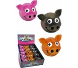 Papillon Latex Obličej s úsměvem hračka pro psy 8 cm různé barvy