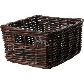 Košík proutěný tmavě hnědý 27 x 20 x 14 cm