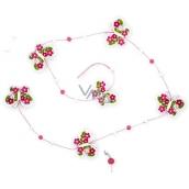 Řetěz růžovobílý motýlkový, 118 cm