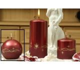 Lima Třpyt hvězdy svíčka červená koule průměr 80 mm 1 kus