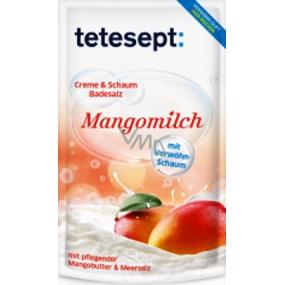 Tetesept Mangové mléko + Mandlový olej Mořská sůl, Krémovo-pěnivá sůl do koupele 80 g Mangomilch