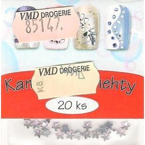 Professional Ozdoby na nehty kamínky hvězdičky světle růžové 20 kusů