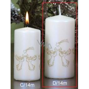 Lima Andělé trubači svíčka perlová válec 60 x 120 mm 1 kus