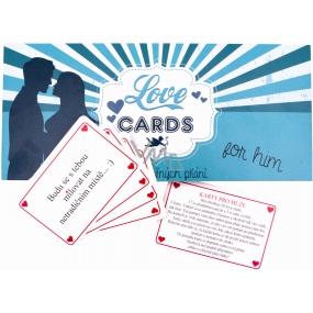 Bohemia Love Cards karty splněných přání pro pány 20 kusů karet