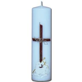Lima Reliéf Beránek oltářní svíčka bílá válec 60 x 220 mm