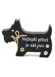 Nekupto Mazlíčci Dřevěná cedulka Nejlepší přítel je náš pes 12 x 9 x 1,5 cm
