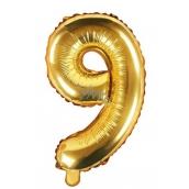 Balónek nafukovací číslo 9, 35 cm fóliový