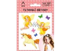 Arch Tetovací obtisky s atestem pro děti Víly 01 2511