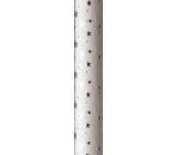 Zöwie Dárkový balicí papír 70 x 150 cm Vánoční Luxusní White Christmas bílý - stříbrné hvězdičky