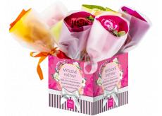 NeoCos Mýdlová růže kytice v papíru fialová 30 g 1 kus