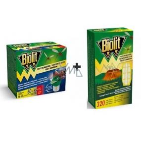 Biolit s tekutou náplní proti komárům 60 nocí elektrický odpuzovač + Biolit proti komárům náplň do elektrického odpařovače 1 kus + baterie 2 kusy
