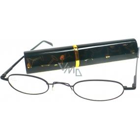 Berkeley Cleopatra čtecí dioptrické brýle +3,0 černé v pouzdru skleničky 1 kus M160