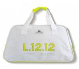 Lacoste Eau de Lacoste L.12.12 Yellow Limited Edition sportovní taška žlutý pruh 48 x 18 x 30 cm
