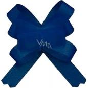 Kokarda stuha stahovací ozdobná modrá 50 cm