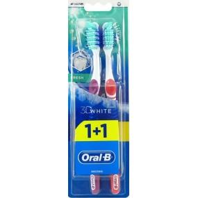 Oral-B 3D White Fresh střední zubní kartáček 1+1 kus