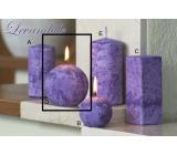 Lima Mramor Levandule vonná svíčka fialová koule průměr 80 mm 1 kus