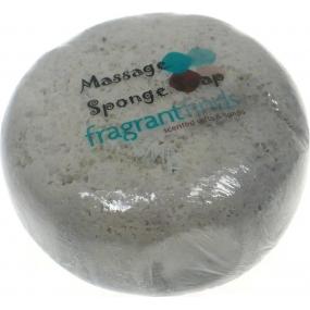 Fragrant Innocent Glycerinové mýdlo masážní s houbou naplněnou vůní parfému Gucci Guilty Men v barvě černošedé 200 g