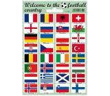Arch Welcome to the football country samolepky a tetovačky vlajky států 12 x 17 cm 1 kus