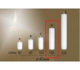 Lima Gastro hladká svíčka bílá válec 40 x 150 mm 1 kus