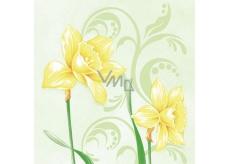 Ditipo Velikonoční papírové ubrousky Narcisy 3 vrstvé 33 x 33 cm 20 kusů