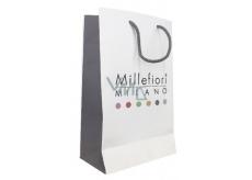 DÁREK Millefiori Taška papírová bílá střední 35 x 20 cm 1 ks