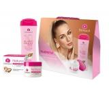 Dermacol Almond Oil tělové mléko 250 ml + Natural denní krém 50 ml, kosmetická sada