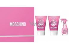 Moschino Fresh Couture Pink toaletni voda pro ženy 5 ml + sprchový gel 25 ml + tělové mléko 25 ml, dárkový sada