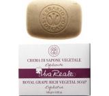 Erbario Toscano Hrozen Bio exfoliační toaletní mýdlo proti stárnutí kůže, vyživuje, zvláčňuje a zpevňuje 140 g