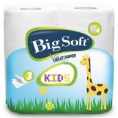Big Soft Kids parfémovaný toaletní papír 3 vrstvý 160 útržků 4 kusy