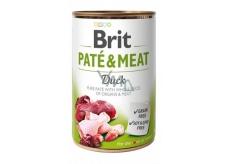 Brit Paté & Meat Kachna a kuře čisté masové paté kompletní krmivo pro psy 400 g