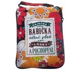 Albi Skládací taška na zip do kabelky s nápisemBabička 42 x 41 x 11 cm