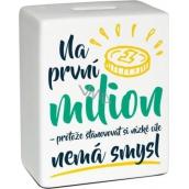 Albi Pokladnička keramická cihlička První milion 11,8 x 10 x 5 cm