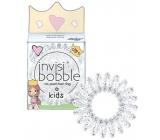 Invisibobble Kids Princess Sparkle Gumička do vlasů pro malé princezny průhledná spirálová 3 kusy