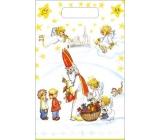 Taška igelitová Mikuláš, děti, kostel 36 x 27 cm