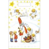 Anděl Igelitová taška Mikuláš, děti, kostel 36 x 27 cm