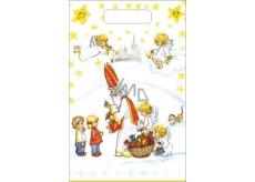 Anděl Igelitová taška 36 x 27 cm Mikuláš, děti, kostel