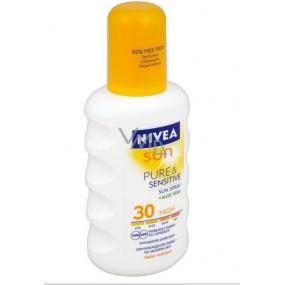 Nivea Sun Pure & Sensitive SPF30 sprej na opalování 200 ml