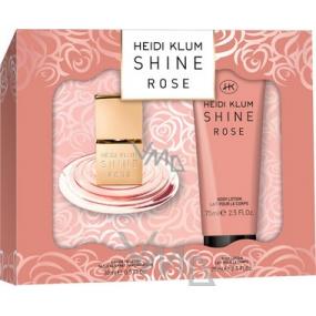 Heidi Klum Shine Rose toaletní voda 30 ml + tělové mléko 75 ml, dárková sada