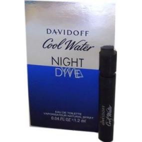 Davidoff Cool Water Night Dive toaletní voda pro muže 1,2 ml s rozpračovačem, Vialka
