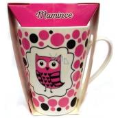 Albi Dobroty Dárková sada hrnek a sypaný čaj bez ibišku, aromatizovaný Mamince růžový 300 ml