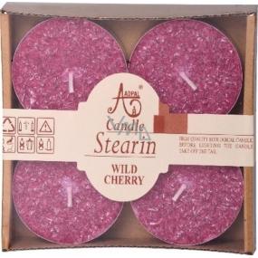 Adpal Stearin Maxi Wild Cherry - Višně vonné čajové svíčky 4 kusy