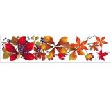 Room Decor Okenní fólie pruh s podzimním listím 59x15cm č.4