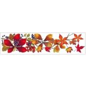 Okenní fólie bez lepidla pruh s podzimním listím 59 x 15 cm č.4