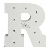 Nekupto Dřevěné LED písmeno R dekorace 16 cm NLE 018