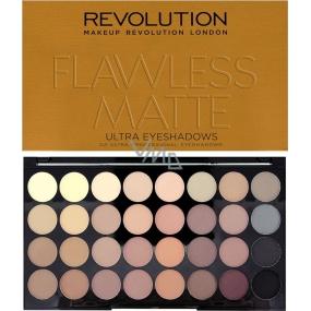 Makeup Revolution Ultra Eyeshadows paletka 32 očních stínů Flawless Matte 16 g