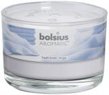Bolsius Aromatic Fresh Linen - Vůně svěžího prádla vonná svíčka ve skle 90 x 65 mm 247 g doba hoření cca 30 hodin