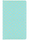 Albi Deluxe Bloček Zlaté puntíky linkovaný, tyrkysový 9,5 cm x 15,5 cm x 1,5 cm